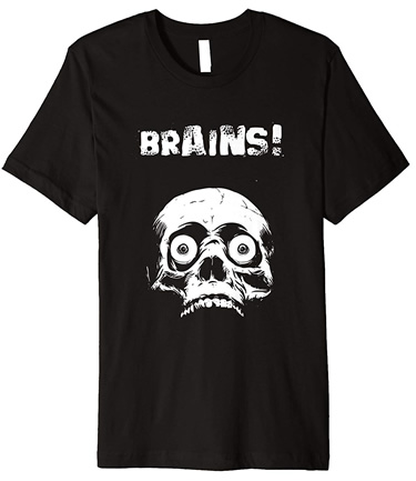 Living Dead Zombie brains T-Shirt