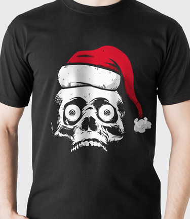 Christmas Goth Metal Zombie T-shirt