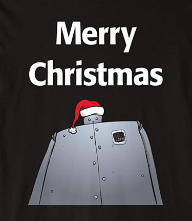 Christmas Robot T-shirt Of Ultimate Destruction